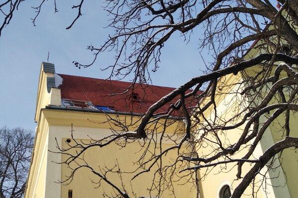 Strecha evanjelického kostola sv. Michala v Gelnici.