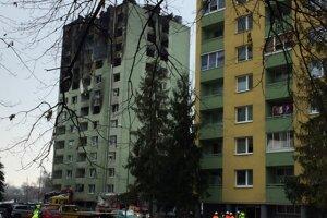 Zhorená bytovka na Mukačevskej 7 v Prešove.