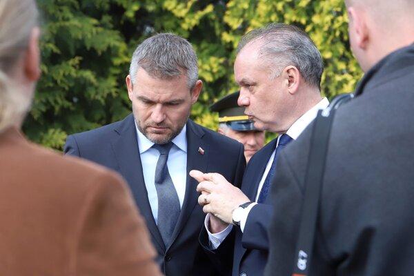 Peter Pellegrini a Andrej Kiska.