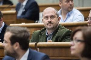 Predseda extrémistickej strany Kotlebovci - ĽSNS Marian Kotleba.