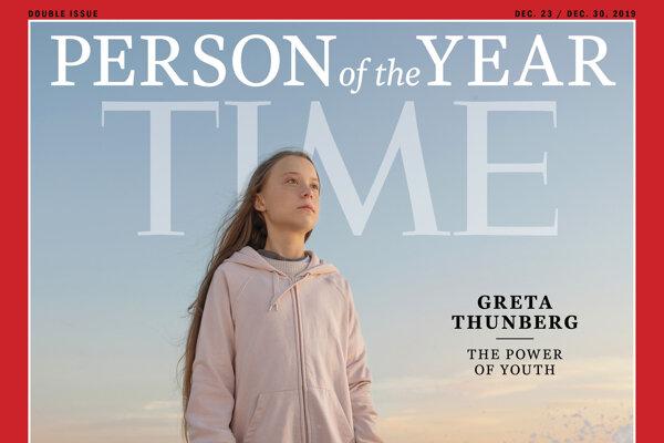 Obálka časopisu Time. Osobnosťou roka je Greta.