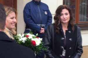 Zuzana Čaputová s Andreou Turčanovou.
