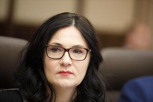Ministerka školstva, vedy, výskumu a športu SR Martina Lubyová počas rokovania 190. schôdze vlády SR. Bratislava, 18. december 2019.