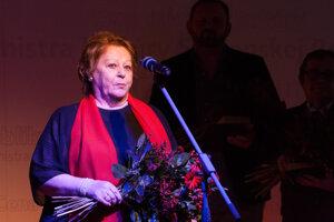 V Bratislave pri preberaní Ceny ministra kultúry SR za celoživotný prínos v oblasti umenia.