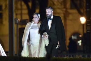 Dominika Cibulková s manželom Michalom Navarom.