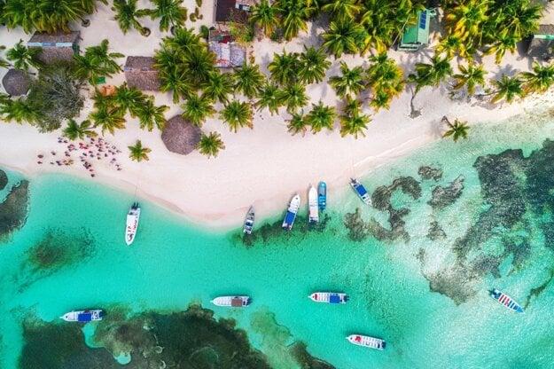 Saona a koralové útesy
