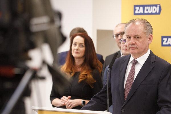 Odborníčka pre oblasť zdravotníctva Andrea Letanovská, predseda strany Za ľudí Andrej Kiska.