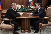 Vladimir Putin a Dmitrij Medvedev.
