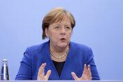 Angela Merkelová po konferenci.