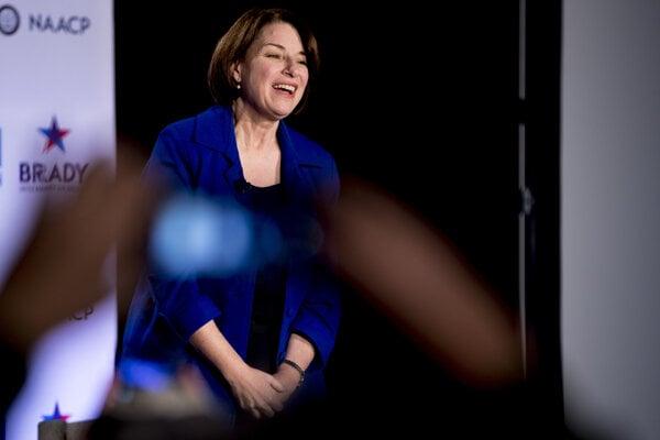Amy Klobucharová  je jednou z prezidentských kandidátok z Demokratickej strany.