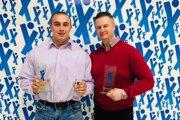 Nikolas Tóth (vľavo) sPetrom Papíkom zo Školy vzpierania Kysucké Nové Mesto.