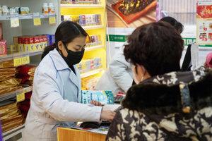 Lekárnička v čínskom meste Wu-han.