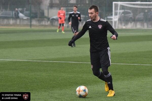 Jakub Krč v prípravnom zápase proti SK Sigma Olomouc.