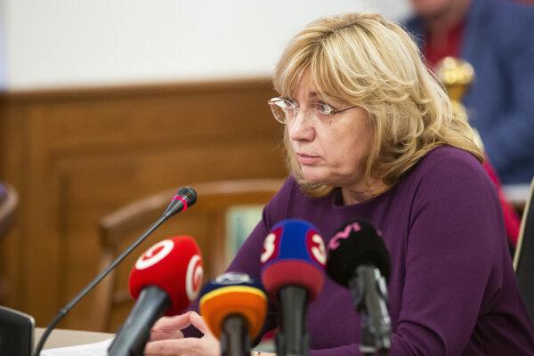 Kandidátka na post predsedu Najvyššieho súdu Jana Bajánková počas vypočúvania Súdnou radou.