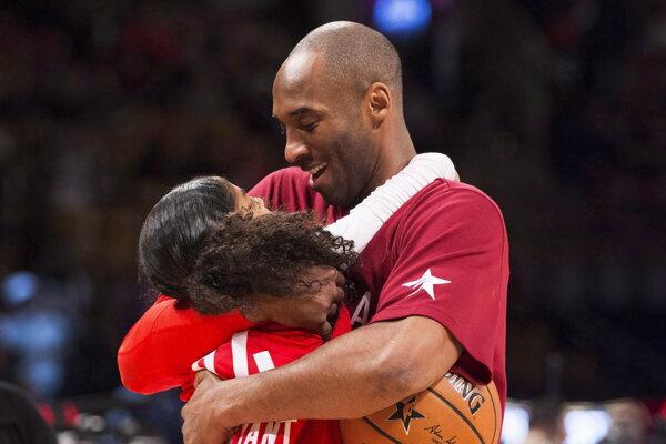 Kobe Bryant so svojou dcérou.