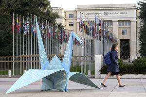 Sídlo OSN vo švajčiarskej Ženeve.