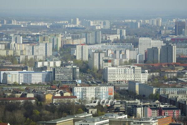 Letecký pohľad na Berlín.