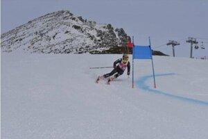 Víťazka obrovského slalomu Rebeka Jančová.