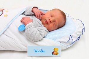 Dávid Fifilina zo Sebedražia sa narodil 24.1. v Bojniciach