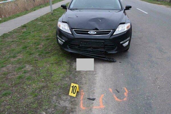 Ford, ktorý dieťa zrazil.