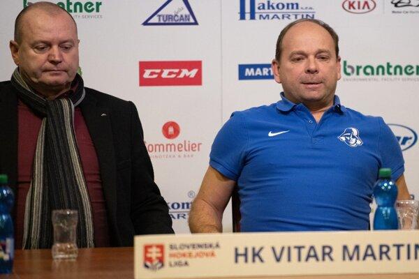 Prezident klubu Michal Mojžiš sriaditeľom Milanom Murčekom.