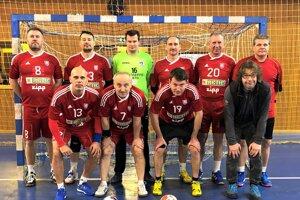Horný rad zľava: Dadík, Štrbák, Gombarský, Vrabec, Kozák, Šranc. Dolný rad zľava: Ficek, Záthurecký, Martinka, Pliešovský.