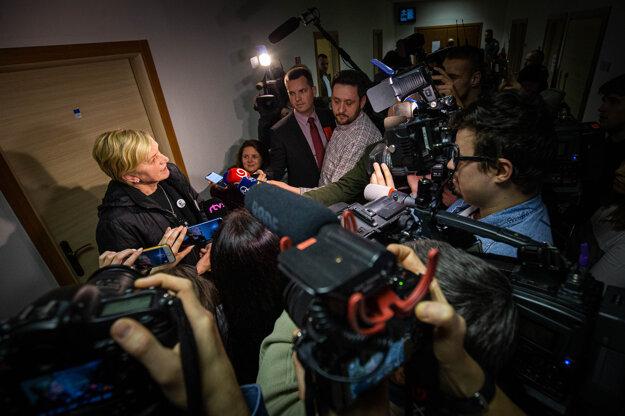Zlatica Kušnírová po vypočutí pracovníkov Europolu.