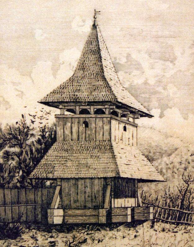 Drevená zvonica na konci 19. storočia