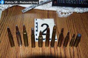 Svidníčanovi polícia našla dohromady 71 rozličných nábojov.