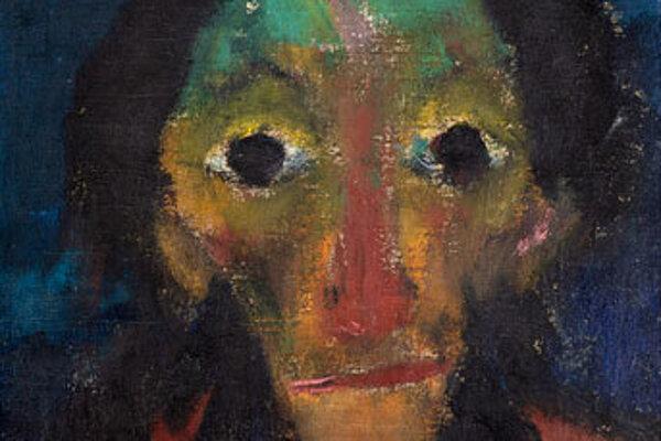 Obraz expresionistického maliara Emila Noldeho s názvom Dôchodca (Rentner).