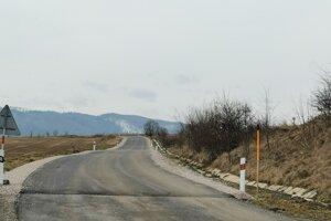 Cesta na Letanovský mlyn, smerom k novej cyklotrase.
