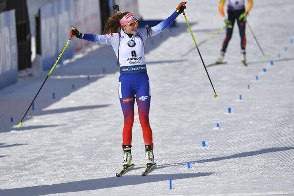 Ivona Fialková na MS v biatlone.