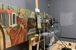 Skenovanie obrazov zo zbierok SNG počas výskumu Slovak Soil in the Flemish Paintings