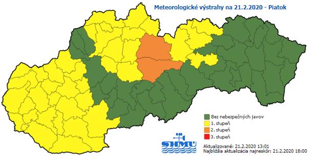 SHMÚ vydal výstrahy pred vetrom a snežením najmä pre Spiš.