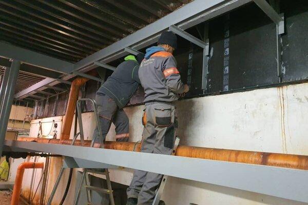 Na plavárni v januári začali s prípravnými prácami na rekonštrukciu.