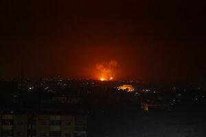 Izraelský útok v pásme Gazy.
