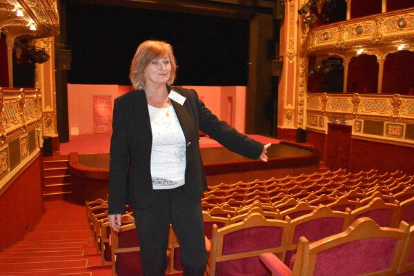 Šéfka uvádzačiek v Štátnom divadle Košice Gabriela Lukáčová.