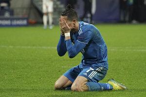 Cristiano Ronaldo v drese Juventus Turín.