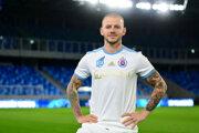 Vladimír Weiss v drese Slovana.