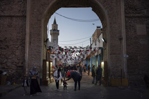 Ulice hlavného mesta Tripolis.