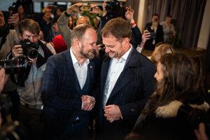Voľby 2020: Igor Matovič s Jozefom Viskupičom.