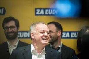 Voľby 2020: Andrej Kiska, líder strany Za ľudí reaguje na priebežné výsledky volieb.