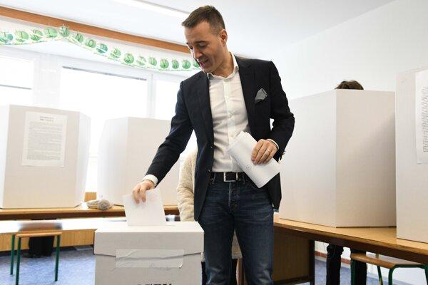 Tomáš Drucker počas volieb, jeho strana Dobrá voľba sa do parlamentu nedostala.