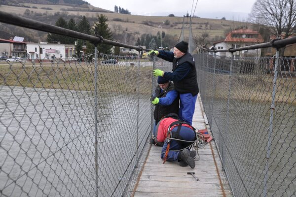 Oprava mosta.