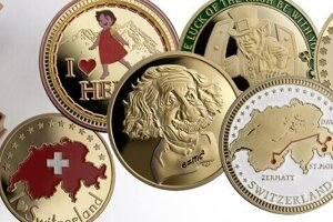 Na minciach je vyobrazená aj Charlie Chaplin.