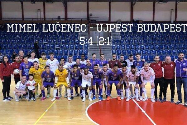 Mimel Lučenec - Újpest Budapešť.