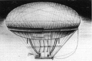 Prvý teoretický návrh ovládateľnej vzducholode vytvoril Jean Baptiste Meusnier.