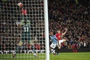 Momentka zo zápasu Manchester United - Manchester City.