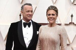 Tom Hanks so svojou manželkou Ritou Wilsonovou.