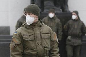 Hliadka bezpečnostných síl v Kyjeve.
